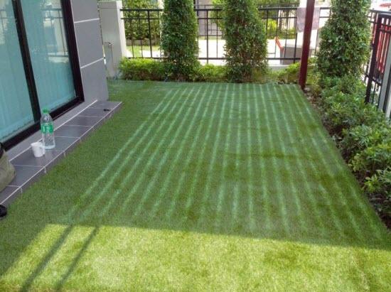 หญ้าเทียมสำหรับจัดสวน หญ้าปลอมขนยาว 3.5 cm