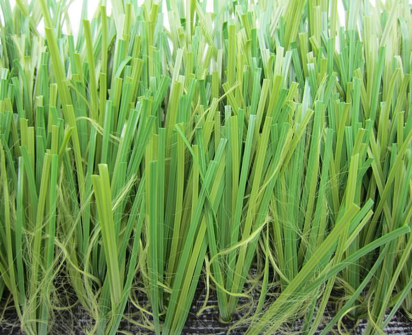 หญ้าเทียมสำหรับสนามฟุตบอล หญ้าปลอมขนยาว 6 cm
