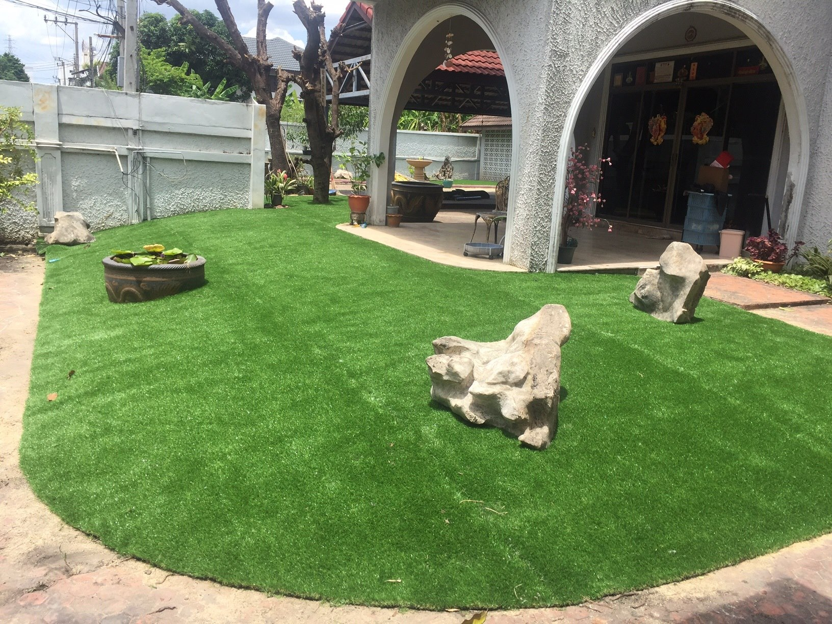 ติดตั้งหญ้าเทียมจัดสวน พัฒนาการ 44